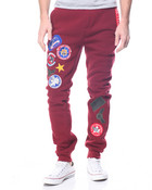 Military Patched Fleece Pants