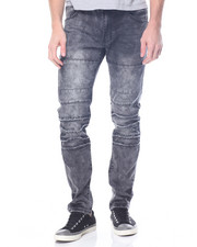 Jeans & Pants - Slashed Detail Moto Jean