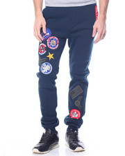 Sweatpants - Military Patched Fleece Pants