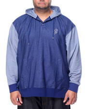 Men - 3 Button Pullover Hoodie (B&T)