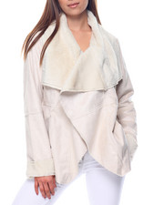 Outerwear - Asymmetrical Faux Shearling Jacket
