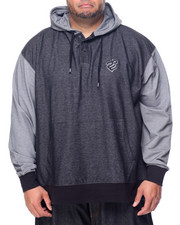 Rocawear - 3 Button Pullover Hoodie (B&T)