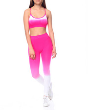 Women - Dip Dye Strappy Bra W/ Legging Set