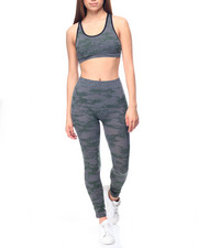 Women - Camoflash Jacquard bra And Legging Set
