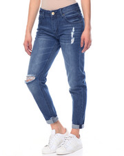 Fashion Lab - Dark Boyfriend Destructed Jean