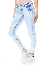 Women - Ellen Destructed Skinny Cloud Wash Jean
