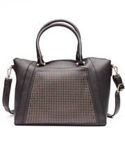 Women - Blinged Out Vegan Leather Satchel