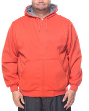 Hoodies - Basic Thermal - Lined Zip - Up Fleece Hoodie (B&T)
