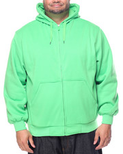 Men - Basic Thermal - Lined Zip - Up Fleece Hoodie (B&T)