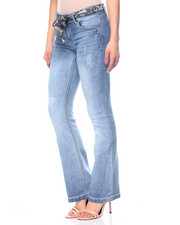 Basic Essentials - Allie Destructed Flare Jean