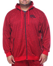 Rocawear - Light Work Marled Zip Fleece Hoodie (B&T)
