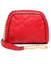 Bags - Quilted Chain Trim Vegan Leather Crossbody Bag