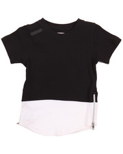Boys - ELONGATED COLOR BLOCK TEE (4-7)