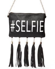 Bags - #Selfie Tassles Vegan Leather Bag
