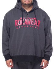 Rocawear - 3rd Round Mini Stripe Pullover Fleece Hoodie (B&T)