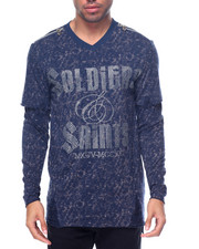 Shirts - Soldiers & Saits Destructed Garment Washed L/S Crewneck
