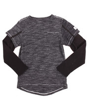 Boys - L/S ELONGATED MARLED TEE (8-20)