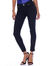 Fashion Lab - Destructed Sandblasted Skinny Boyfriend Mini Roll Stretch Jean