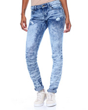 Fashion Lab - Crushed Destructed  Stretch Skinny Jean