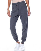 French Terry Zip Pockets Rouched Cuff Jogger