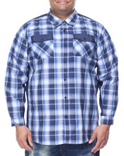 Men - Logan Denim Trimmed L/S Plaid Button-Down (B&T)
