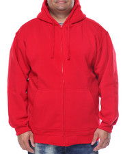 Men - Basic Zip - Up Fleece Hoodie (B&T)