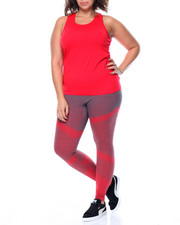 Plus Size - Red Tank and Leggings set (plus)