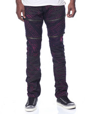 Men - Wash Moto Denim Jeans