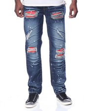 Men - Rip & Repair Jean w/ Red Patch