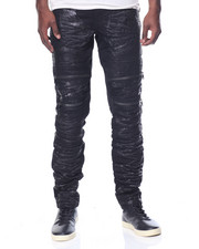 Jeans & Pants - Space Wash Moto Denim Jeans