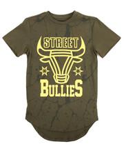 Tops - SCALLOP HEM FOIL STREET BULLIES TEE (8-20)