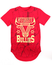 Sizes 8-20 - Big Kids - SCALLOP HEM FOIL STREET BULLIES TEE (8-20)