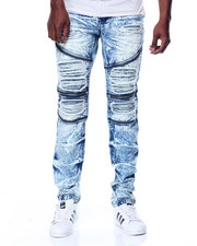 Buyers Picks - Slim Fit Premium Wash Moto Denim Jeans