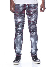 Men - Bloody Wash Moto Denim Jeans