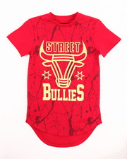 Sizes 4-7x - Kids - SCALLOP HEM FOIL STREET BULLIES TEE (4-7)