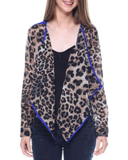 Fashion Lab - Animal Print Georgette Blazer
