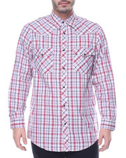 Basic Essentials - Plaid L/S Button-Down