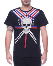 Men - Skull Rhinestone T-Shirt