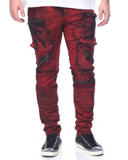 Buyers Picks - Biker Denim -Red Acid Wash