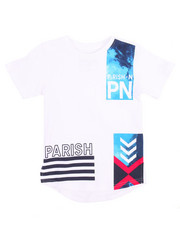 Boys - FADED GRAPHIC SCALLOP HEM TEE (4-7)