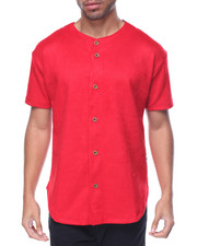 Men - Super Heavy Suede Baseball Jersey