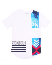 Boys - FADED GRAPHIC SCALLOP HEM TEE (8-20)