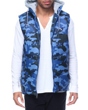 Men - Camo Print Hooded Vest