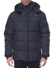 Heavy Coats - Ben Sherman Hooded Quilted Poly Jacket