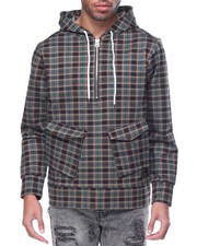 Men - Plaid Tech Hoody