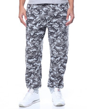 Men - Camo Print Fleece Joggers
