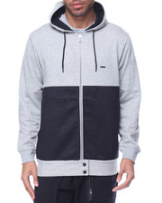 Men - Zip Faux Suede Hoody