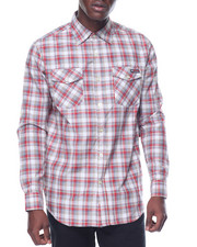 Men - Enyce Plaid L/S Button-Down