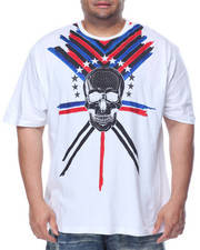 Men - Skull Rhinestone T-Shirt (B&T)