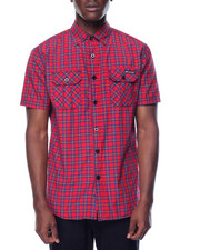 Shirts - Enyce Plaid S/S Button-Down